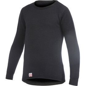 Woolpower 200 T-shirt manches longues à col ras-du-cou Enfant, pirate black